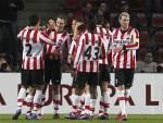 I giocatori del Psv Eindhoven esultano dopo un gol (Getty Images)