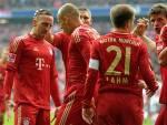 I giocatori del Bayern Monaco esultano dopo un gol (Getty Images)