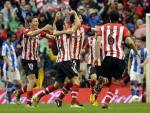 I giocatori dell' Athletic Bilbao esultano dopo un gol (Getty Images)