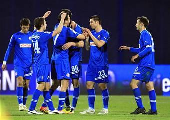 I giocatori della Dinamo Zagabria festeggiano dopo un gol (Getty Images)