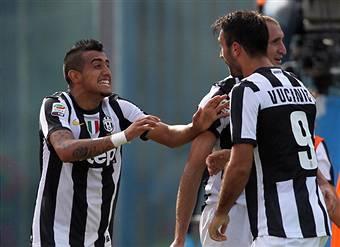 I giocatori della Juventus esultano dopo un gol (Getty Images)