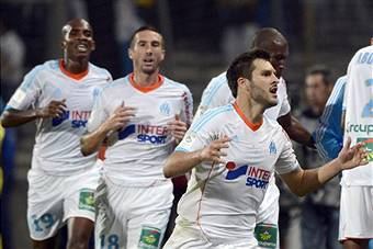 I giocatori del Marsiglia esultano dopo un gol (Getty Images)