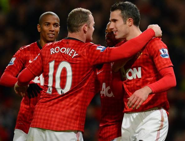 I giocatoridelo United festeggiano dopo un gol (Getty images)