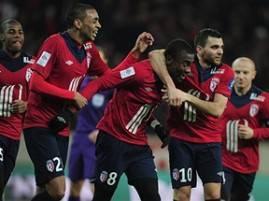 I giocatori del Lille esultano dopo un gol (Getty Images)