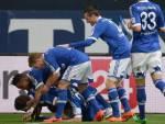 I giocatori dello Schalke esultano dopo un gol (Getty Images)