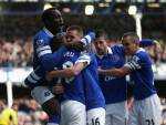 I giocatori dell'Everton esultano dopo un gol (Getty Images)
