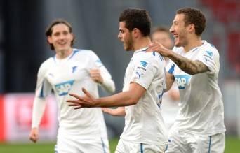 I giocatori dell'Hoffenheim esultano dopo un gol (Getty Images)