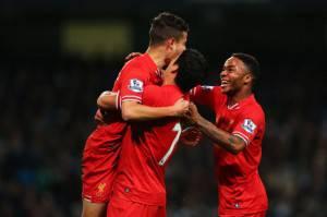 I giocatori del Liverpool esultano dopo un gol (Getty Images)