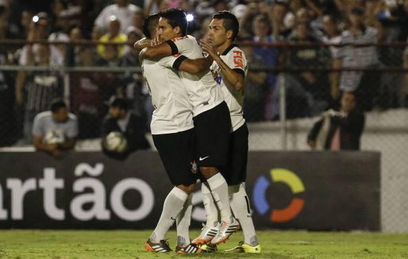 I giocatori del Corinthians esultano dopo un gol (Getty Images)