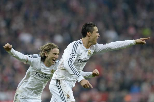 Cristiano Ronaldo esulta dopo aver segnato (Getty Images)