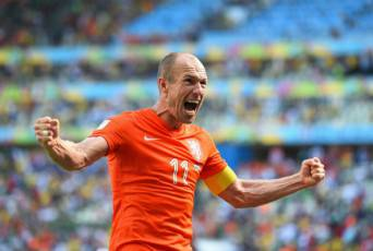 Robben esulta dopo un gol (Getty Images)