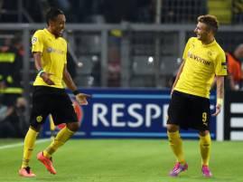 Aubameyang e Immobile esultano dopo un gol (Getty Images)
