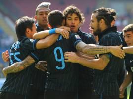 I giocatori dell'Inter esultano dopo un gol (Getty Images)