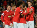 I giocatori del Manchester United esultano dopo un gol (Getty Images)