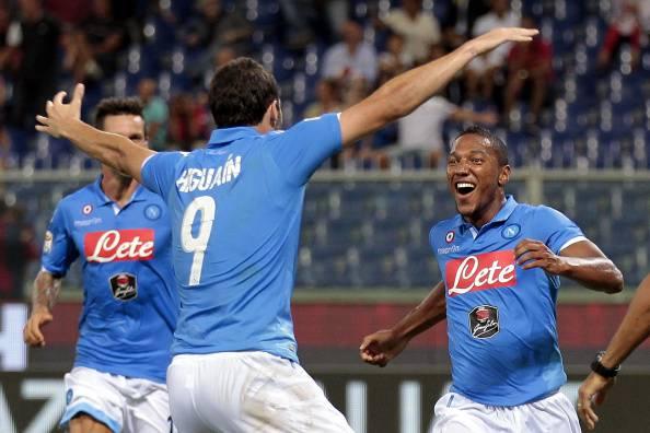 I giocatori del Napoli esultano dopo un go (Getty Images)