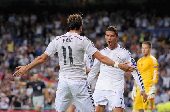 Bale e Ronaldo esultano dopo un gol (Getty Images)