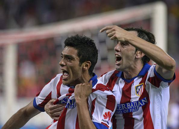 I giocatori dell'Atlético Madrid esultano dopo un gol (Getty Images)