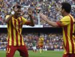 Neymar e Messi esultano dopo un gol (Getty Images)