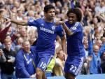 Diego Costa e Willian esultano dopo un gol (Getty Images)