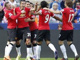 I giocatori del Manchester United esultano dopo un gol (Getty Images)