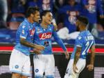 I giocatori del Napoli esultano dopo un gol (Getty Images)