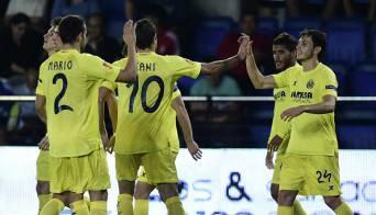 I giocatori del Villarreal esultano dopo un gol (Getty Images)