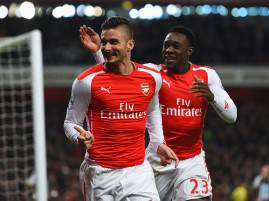 I giocatori dell'Arsenal esultano dopo un gol (Getty Images)
