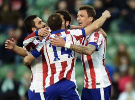I giocatori dell'Atletico Madrid esultano dopo un gol (Getty Images)