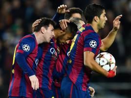 I giocatori del Barcellona esultano dopo un gol (Getty Images)