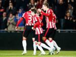 I giocatori del PSV esultano dopo un gol (Getty Images)