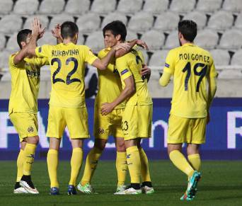 I giocatori del Villarreal esultano dopo un gol (Getty Images)