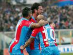 I giocatori del Catania esultano dopo un gol (Getty Images)