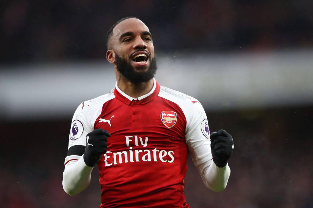 L'attaccante dell'Arsenal Lacazette